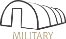 military tent logo